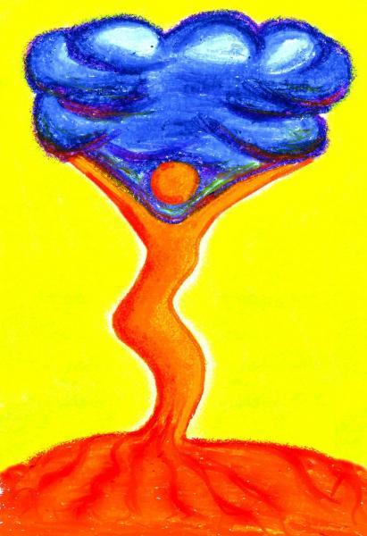 Logo carte visite arbre homme